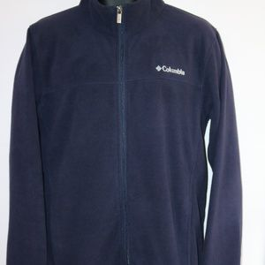 Columbia Full zip Navy Fleece Size L